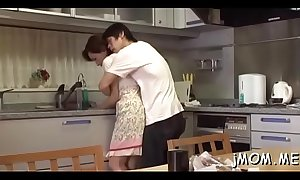 Perverted japanese older licks her lover all over his body