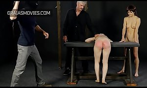 Very hard sole beating and ass whipping