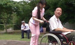 Subtitled queer japanese half barren caregiver not on