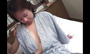Asian granny enjoys 3some fucking