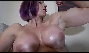 Big Tit Muscle Girl Rapture Gives Hot JOI