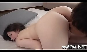 Horny oriental fetish mother i'd like to fuck gets wet while sucking on toes and balls