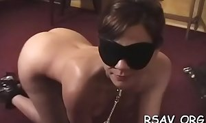 Sweetheart gets bounded and blindfolded for a bdsm session
