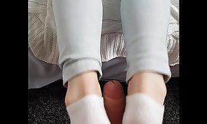 Wife footjob
