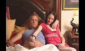Daughter walks in on her daddy watching porn
