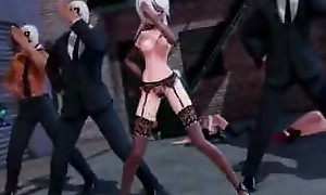 MMD group sex with Haku