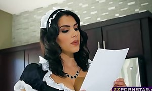 Busty brunette hair maid valentina nappi double permeated