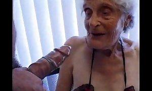 Granny 93 yo fuck juicy crack at fellow 35 yo