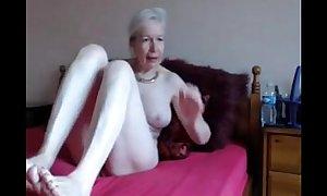 Amateur. gorgeous lascivious granny masturbates