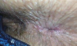 Wife shit stained bushy chocolate gap inspection