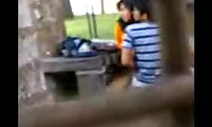 Indian college students fucking in public park ...