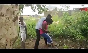 African nigerian ghetto boys gangbang a virgin  / part 2