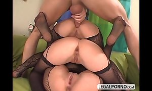 3 euro chicks getting roasting in fishnet stockings ts-7-02