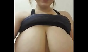 Milking mother tits
